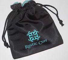 1 - RUSTIC CUFF BLACK BRACELET JEWELRY STORAGE GIFT BAG #6651