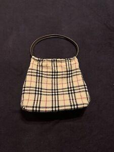Vintage Burberry Small Wool / Leather Nova Check Bag