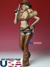 """1/6 Sexy Cowgirl Leather Suit Set B For 12"""" TBLeague Hot Toys Female Figure USA"""