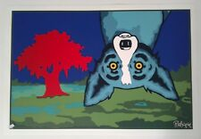 George Rodrigue Blue Dog 'Topsy Turvy' Silkscreen Signed Excellent Condition