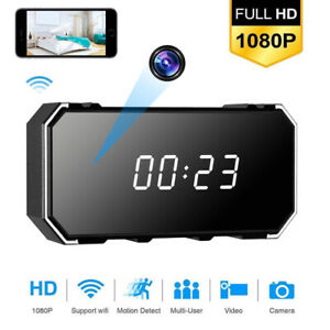 4K 1080P HD Alarm Clock Camera WiFi Wireless Baby Monitor Night Vision Security