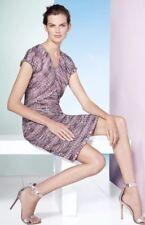NWT St. John Anna Woven Stripe Knit A-Line Dress K11R002 Orchid Size 8