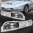 For 1993-1997 Pontiac Firebird Trans AM LS1 Clear Lens Turn Signal Bumper Lights  for sale