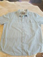 Men's XL REALTREE Short Sleeve Shirt Blue EUC