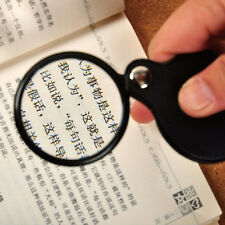 8X Power Magnifier Glass Lens Flip out Magnifying Swivel Pocket Foldable New.