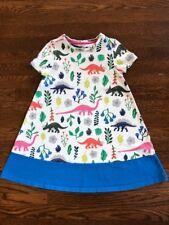 Mini Boden Girl's short sleeve jersey printed dinosaur dress, size 5-6