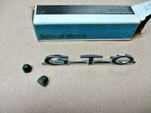 NOS 1964 1965 1966 1967 1968 1969 PONTIAC GTO TRUNK EMBLEM GM 8701433