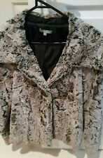 LADIES FAKE FUR JACKET/COAT BY MIX IT BRAND  - SIZE 12 NEW ORIGINAL RRP $220