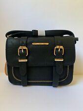 Bessie London Black Small Crossbody Satchel Handbag Buckle Detail Faux Leather