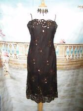 PHASE EIGHT Dress 8 Beaded +Sequins Mesh Evening/Gatsby/Downton 20s Flapper