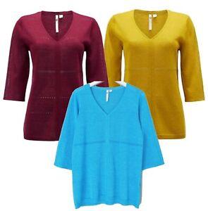 Womens WHITE STUFF SETTING SUN Jumper Top Sweater Linen Blend Knit 6 - 18 WINTER