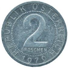 1979 / 2 GROSCHEN / AUSTRIA / OSTERREICH / COLLECTIBLE COIN   #WT30000