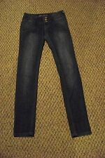 womens septima faded dark wash skinny jeans size 3/4 24 x 31