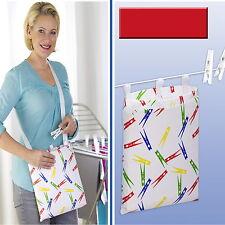 Wenko Wäscheklammerbeutel + 50 Wäscheklammern Wäscheklammer Beutel Klammerbeutel