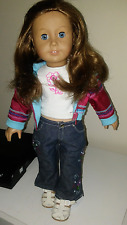 AMERICAN GIRL JUST LIKE ME DOLL PLEASANT CO. AUBURN HAIR WITH BLUE EYES AND FREC