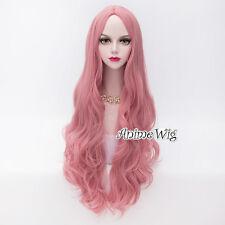 80CM Long Curly Hair Lolita Women Heat Resistant Party Cosplay Wig + Wig Cap