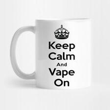 PERSONALISED KEEP CALM AND VAPE ON  COFFEE TEA MUG
