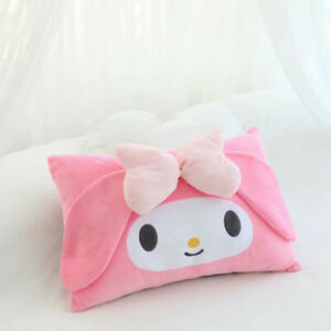 Girl's Cute Anime My Melody Bow Plush Bed Pillow Case Cover Bedroom Pillowcases