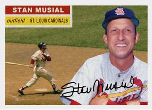 STAN MUSIAL 1956 STYLE CUSTOM ART CARD ## BUY 5 GET 1 FREE ## or 30% OFF 12