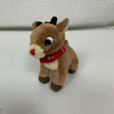 Build A Bear BABW Rudolph the Red Nose Reindeer Small Clip On Plush Animal Toy