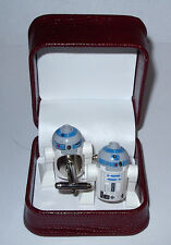 REAL R2-D2 R2D2 STAR WAR  LEGO CUFFLINK BEAUTIFUL JEWELRY BOX- WEDDING GIFT