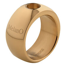MelanO Magnetic Ring Größe 58 goldfarben M 01R003 G glänzend 10 mm f Magnet Kopf
