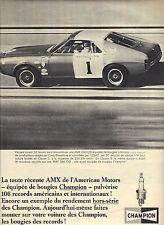 PUBLICITE  1968   CHAMPION  bougies sur AMX