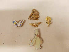 CUTE ANIMAL & Rose Lapel pins & Hat Pins or Tie Tacs