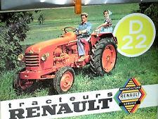 REPLIQUE 1994 PROSPECTUS TRACTEUR AGRICOLE RENAULT D22  / ANNEES 1950