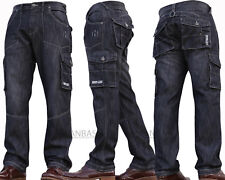 New Mens Denim And Dye Cargo Combat Work Cheap Pants Jeans Trousers Waist Sizes