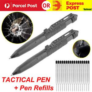 2PCS SELF DEFENCE TACTICAL PEN Glass Breaker DNA pens Survival Tool Defense Gear