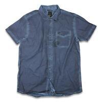 RVCA Mens Essentials Button Up S/S Shirt Navy M New