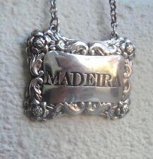 Plata esterlina georgiano Madeira Decantador o vino Etiqueta H/m 1826 Edimburgo