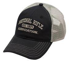 NRA National Rifle Association *BLACK & SILVER MESH BACK* TWILL HAT CAP NEW NR03
