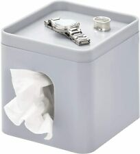 iDesign Cade Facial Tissue Cover, Boutique Box Bathroom Holder for Vanity, Count