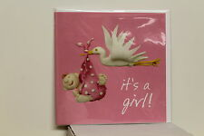 QUALITY CARD & ENVELOPE    ( Humour - NEW BABY GIRL