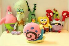 6pcs SpongeBob SquarePants Patrick Star Squidward Tentacles Plush Soft Toys New
