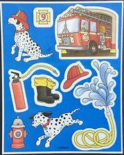 Vintage Stickers - Unique - Firetruck & Dalmatians - Adorable!!