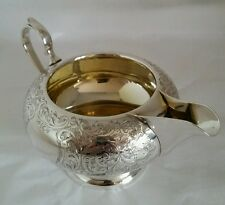 George V sterling silver cream jug .Birmingham 1929.By Charles S. Green & Co.Ltd
