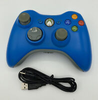 Xbox 360 Limited Edition blue wireless controller working Battery Pk & Charger