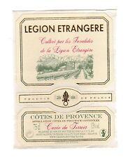 Autocollant pour Bouteilles de vin  LÉGION ÉTRANGÈRE dimensions : 9,5 x 7 cm