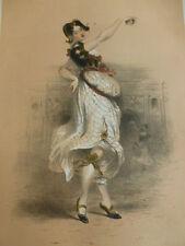 LITHOGRAPHIE FRAGONARD 1840 / LA FILLE D'HONNEUR DE L'ESCADRON DE VENUS XVIe