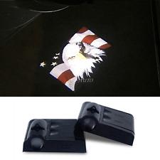 Wireless Car LED Door Projector American USA Flag Eagle Logo Ghost Shadow Lights