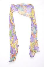 Bright & Colorful Tropical Fruit Print Lightweight Statement Scarf (s110)