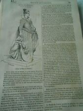 Statue de Catherine de Médicis Bronze Statue Gravure Old Print 1833