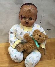 Vintage Zombie Baby Doll OOAK Horror Haunted Scary Halloween