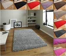 Soft Shaggy Thick Plain Rug Non Shed 5cm Thick Pile Modern Area Rugs Non Shed