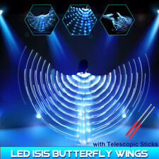 LED Isis Wings Glow Belly Dance Light Up Club Costumes Telescopic Rods 300CM ❤