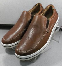 258310 MS38 Men's Shoes Size 9.5 M Brown Leather Slip On Johnston & Murphy
