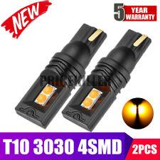 2PCS T10 LED 3030 4SMD Bulb Yellow W5W 168 194 Super Bright Car Wedge Side Light